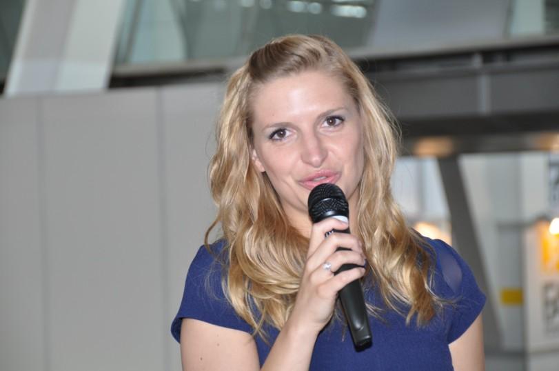 Messe Moderatorin Janine Mehner