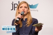 "Messe Moderation in Hamburg zum Thema ""Wege in den Journalismus"", Medien Messe Moderatorin"